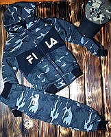 Спортивный костюм детский камуфляжный FILA, фото 1