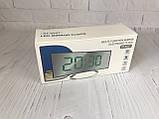 Часы электронные LED зеркальные, зеленый циферблат, термометр, дата, ночной режим 6507, фото 7