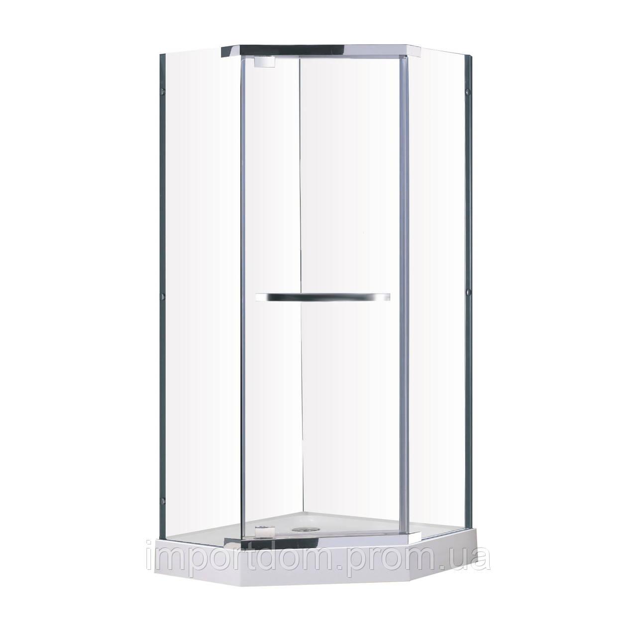 Talány душ кабина90*90*190 см (стекла+двери) хром, стекло прозрачное 10 мм ВЫПИСЫВАТЬ с набором 599-555/3