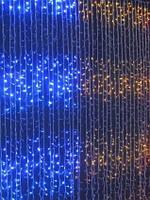 Светодиодная гирлянда, штора, 320 LED, двухцветная (желто-голубая), Товары для дома