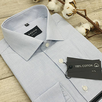 Рубашка мужская 100% хлопковый жаккард  ТМ INGVAR