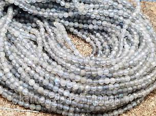 4 мм Лабрадорит, Натуральный камень, Форма: Граненый Шар, Длина: 40 см, фото 2