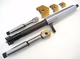 Сверло перовое сборное к/х ф32мм КМ4 с мех креплением сменной быстрорежущей пластиной Р6М5 под два отверстия пр-во ХИЗ