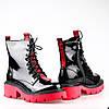 Массивные Лаковые Демисезонные ботинки W2155-X909AL BLACK LAK весна 2020