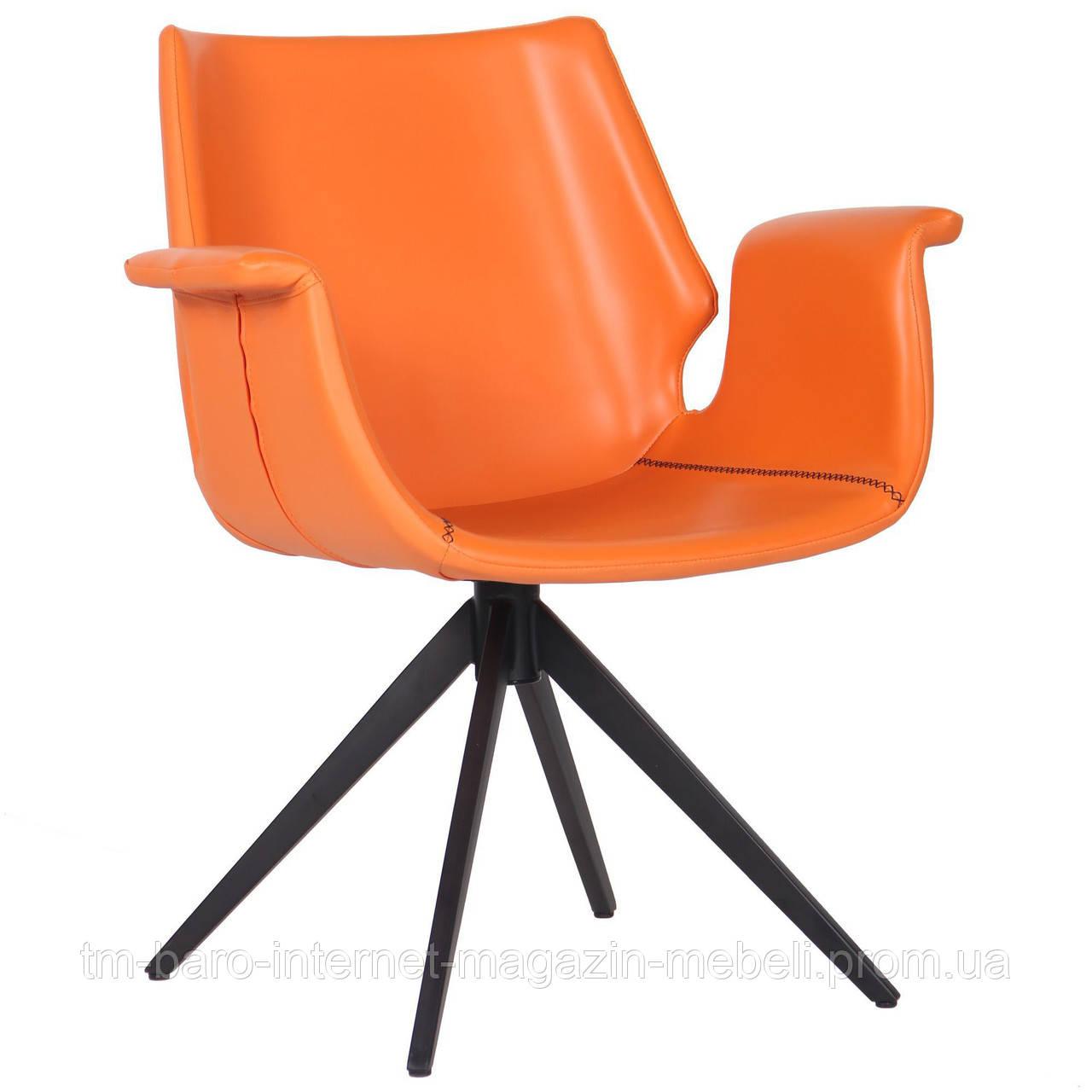 Кресло Vert (Верт) orange leather, оранжевый, Бесплатная доставка