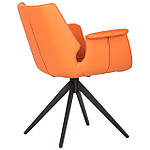 Кресло Vert (Верт) orange leather, оранжевый, Бесплатная доставка, фото 4