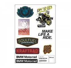 Оригінальний комплект наклейок BMW Motorrad Style Roadster Stickers Set артикул 76868561183