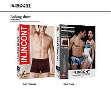 Мужские стрейчевые боксеры бренда IN.INCONT Арт.9056, фото 3
