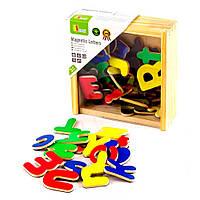 Набор для обучения Магнитные буквы, латинский алфавит 52 шт., Viga Toys