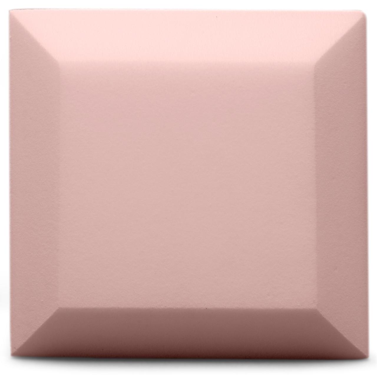 Бархатная акустическая панель из акустического поролона Ecosound Velvet Rose 25х25см 50мм. Цвет светло-розовый