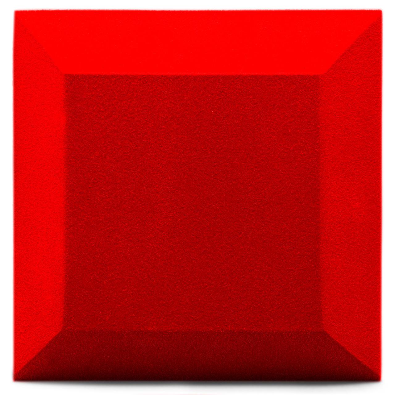 Бархатная акустическая панель из акустического поролона Ecosound Velvet Red 25х25см 50мм. Цвет красный