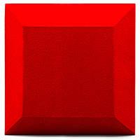 Бархатная акустическая панель из акустического поролона Ecosound Velvet Red 25х25см 50мм. Цвет красный, фото 1