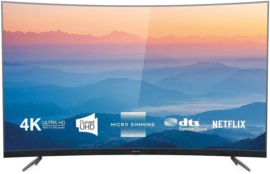 Изогнутый Телевизор Thomson 65UD6696 (65дюймов / SmartTV / PPI 1500 / Wi-Fi / DVB-C/T/S/T2/S2)