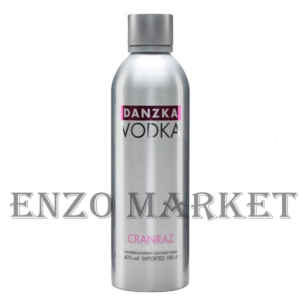Водка Danzka Cranraz (Данзка Клюква-Малина) 40%, 1 литр