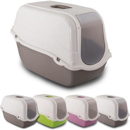 Туалет для кошек БОКС ROMEO, с фильтром,  57*39*41 см (розовый, зеленый, синий)