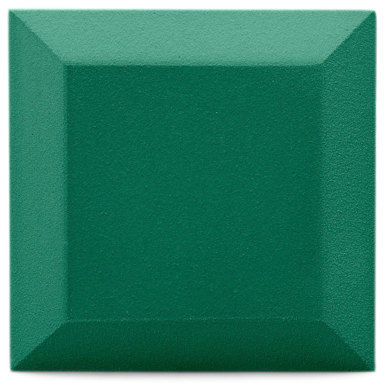 Бархатная акустическая панель из акустического поролона Ecosound Velvet Kelly green 25х25см 50мм. Цвет зеленый
