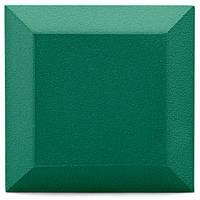 Бархатная акустическая панель из акустического поролона Ecosound Velvet Kelly green 25х25см 50мм. Цвет зеленый, фото 1