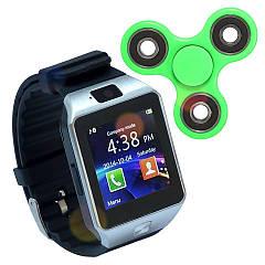 Часы Смарт DZ09 Black с Sim картой + Спинер в подарок