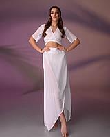 Пляжный костюм 203, цвет - молочно белый.