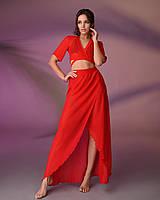 Пляжный костюм 203, цвет - красный.