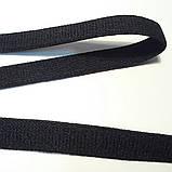 Резинка бретелечная, 10 мм ширина. Цвет черный. Гладкая, матовая., фото 2