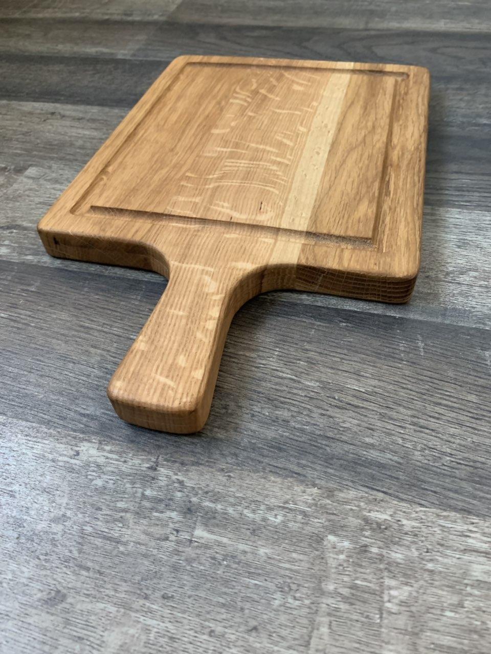 Деревянная Доска для подачи прямоугольная с ручкой