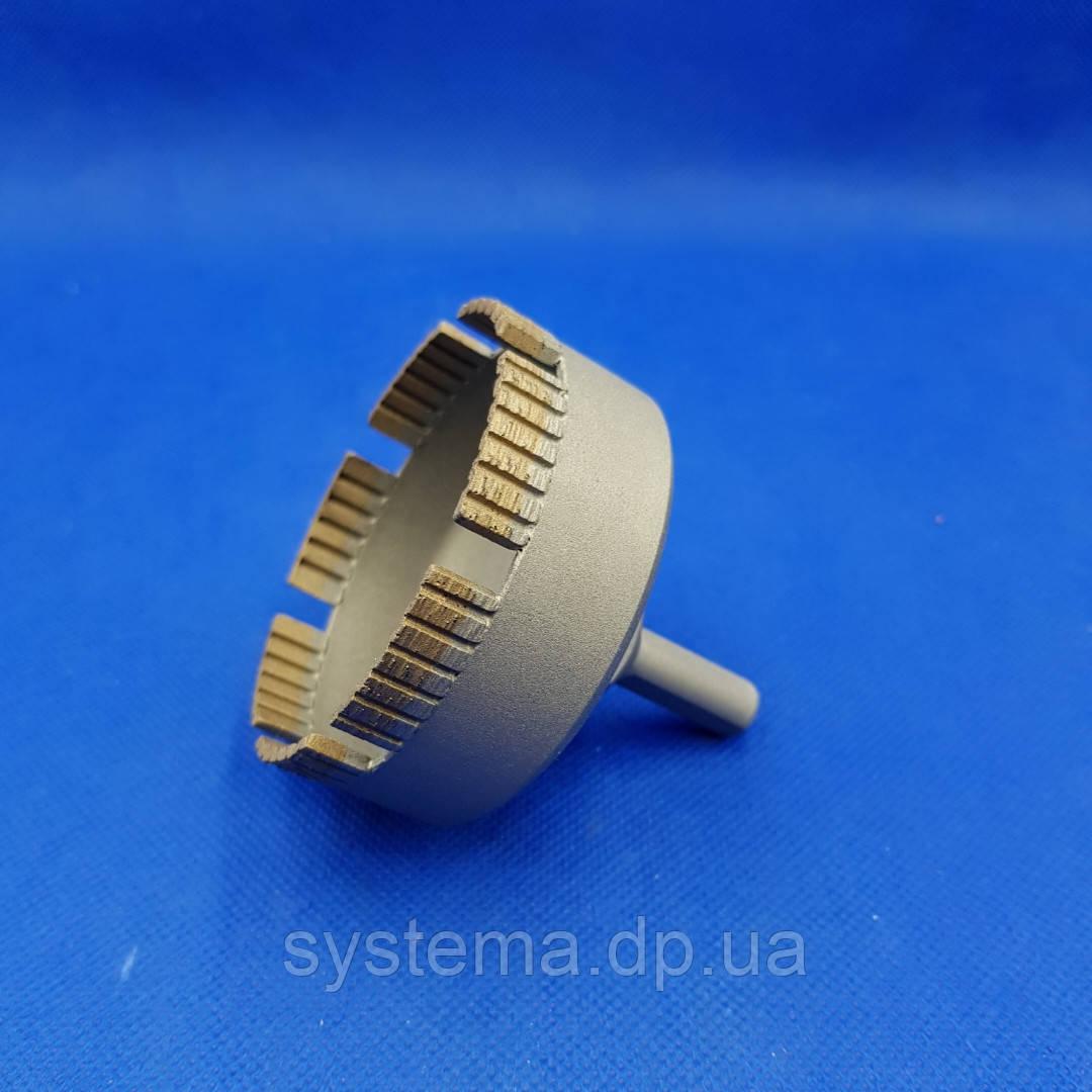 Сверло алмазное сегментное турбо д. 70 мм по керамограниту и керамике DISTAR DDS-W 70x47-7 S10 Ceramics