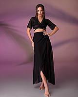 Пляжный костюм 203, цвет - черный., фото 1