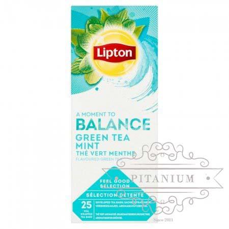 """Чай зелёный с мятой ТМ """"Lipton"""" 25 пакетиков"""