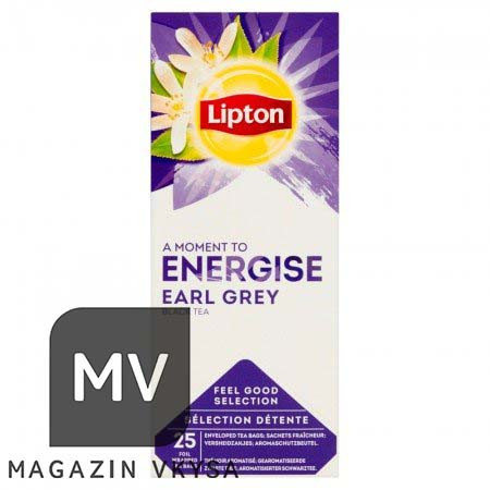 """Чай чёрный с бергамотом ерл грей ТМ """"Lipton"""" 25 пакетиков"""