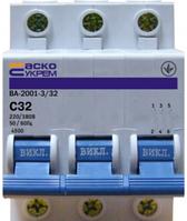 Авт. вимикач 32А ВА-2001 3р  АСКО