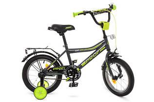 Велосипед двухколесный PROFI Y14108 Top Grade, 14 дюймов, серый