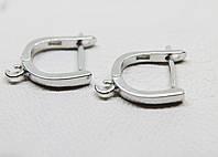 Застежки швензы серебряные родированные для сережек  (2,13 г)