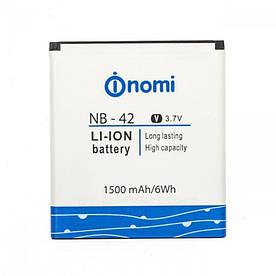 Аккумулятор АКБ Nomi NB-42 для Nomi i401 Colt (Li-ion 3.7V 1500mAh) Оригинал Китай
