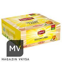 """Чай чёрный ТМ """"Lipton"""" 100 пакетиков в индивидуальной упаковке"""