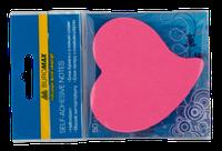 Блок для заметок Серце, 50л., неон ассорти BUROMAX BM.2362-99