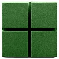 Акустическая панель Ecosound Tetras Velvet Pistasho 200x200x50мм цвет зелёный, фото 1