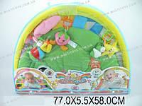 Коврик для малышей с погремушками на дуге, в сумке 77х5х58