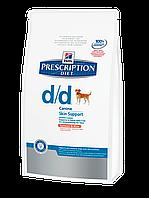 Корм для собак Hills PD Canine D/D 2 кг с лососем диета для собак при пищевой аллергии или непереносимости