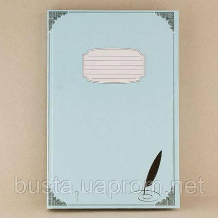 Тетрадь А4 голубая 200л линия, фото 2