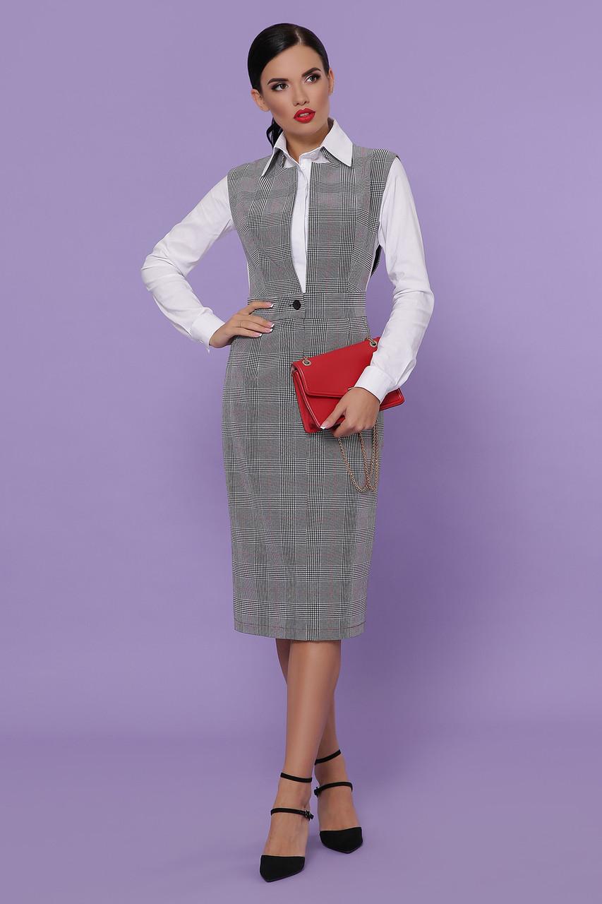 Жіночий сарафан в офісному стилі Розміри S