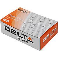 Скрепки 50мм Delta by Axent 100 шт. с загибом никелированные 4302