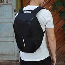 Рюкзак черный модель антивор с USB