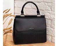 Женская черная классическая сумка David Jones (131)