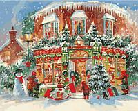 """Картина по номерам """"Новогодний городок"""" ★★★★ КНО3533"""