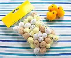 (≈50шт) Яйца из пенопласта 25х18мм, пасхальный декор Цвет - МИКС