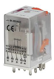 Реле промежуточное ETI ERM2-024AC 2P 24V AC 12А 2473008 (электромеханическое)