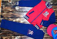 Спортинвый костюм детский, красный