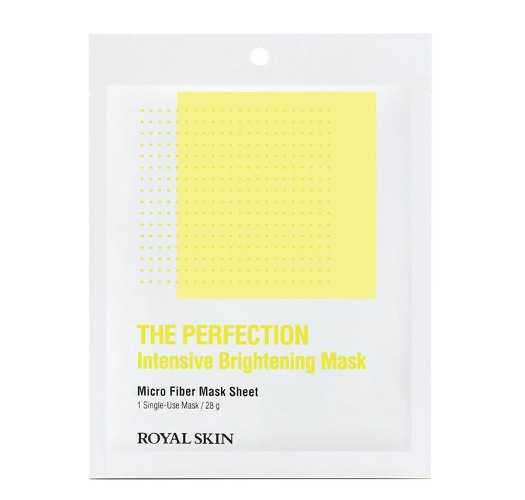 Вирівнює тон маска з мікрофібри ROYAL SKIN THE PERFECTION Intensive Brightening Mask 1шт(до 03.09.2021)