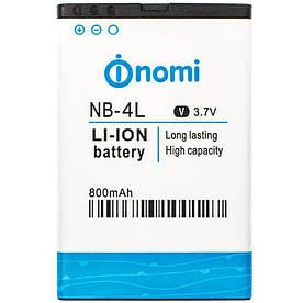 Аккумулятор АКБ Nomi NB-4L для Nomi i240 (Li-ion 3.7V 800mAh) Оригинал Китай